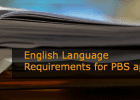 English Language Requirements for PBS Applications