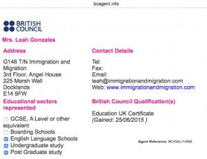 British Council Accreditation - Official agent of British Council