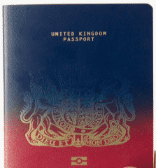 British Passport after Brexit Design - Design 1 by Ian Macfarlane