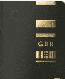 British Passport Design - Design 4 by Eric Wong & Elliot Jefferies