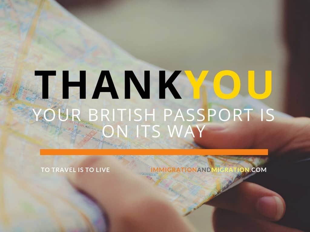 Thank You for your British Passport Application