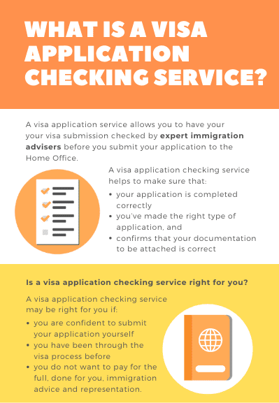 visa application checking service - 7 step process guide.