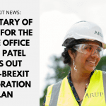 Secretary of State for the Home Office, Priti Patel sets out post-Brexit immigration plan - including a new health and care visa
