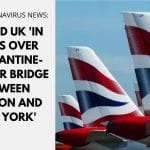 US and UK 'in talks over quarantine-free air bridge between London and New York'