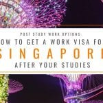 Post Study Work Options: How to Get a Work Visa in Singapore After Studies