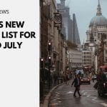 UK's New Green List for Mid July